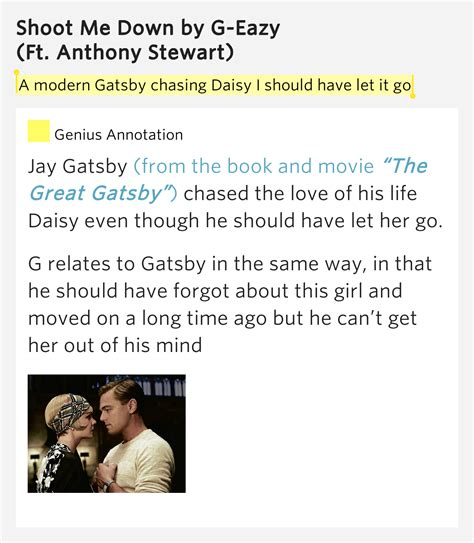 symbolism in the great gatsby movie a modern gatsby chasing daisy i should have let shoot