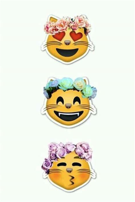 cat emoji wallpaper cat emoji flower image 3833664 by rayman on favim com