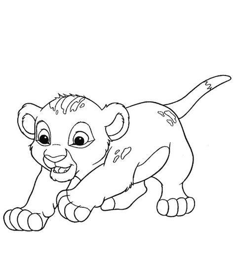 Coloriage Lion Imprimer