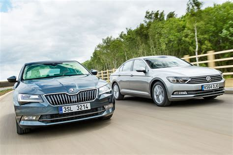 back in business skoda superb vs vw passat auto express