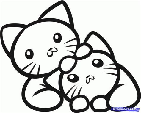 coloring pictures of baby kittens baby kittens coloring pages az coloring pages