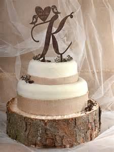 rustic wedding cake topper rustic cake topper wood cake topper monogram by forlovepolkadots