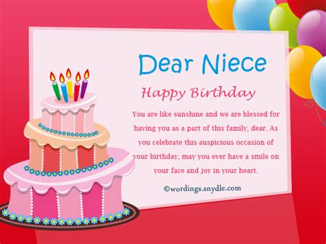Happy Birthday Niece Wishes Birthday Message To Niece Pictures To Pin On Pinterest