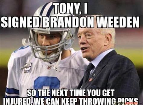 Brandon Weeden Memes - keep throwing picks meme