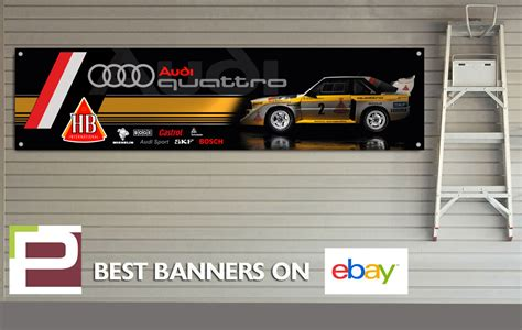 audi banner audi quattro rally car banner for workshop garage