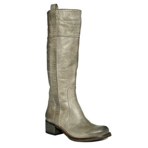 lucky brand hibiscus boots in gray silver cloud lyst
