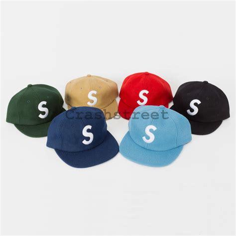 buy supreme cap supreme fw15 wool s logo 6 panel c cap box logo ebay