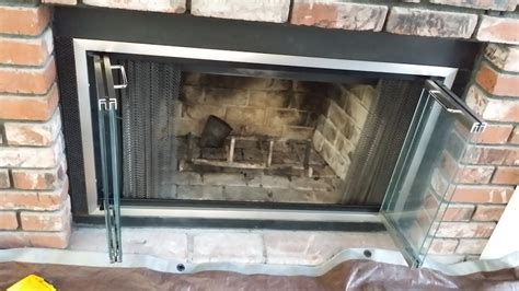 replace fireplace doors home design