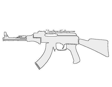 printable gun stencils ak 47 stencil free stencil gallery