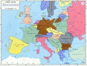 Europe Map 1919 by Atlas Adventures