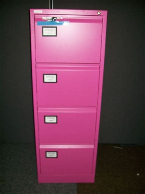 Pink Filing Cabinet 4 Drawer Filing Cabinet In Pink New