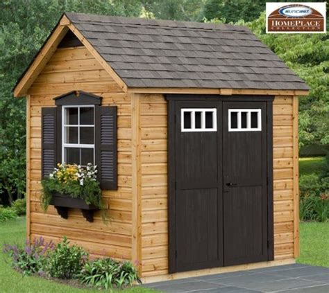 legacy 8 x 6 wood garden and storage shed