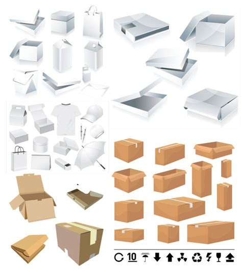 package design layout vector 4 designer packaging box carton template vector