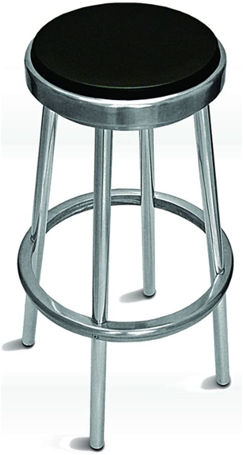 Aluminum Backless Bar Stools by Outdoor Aluminum Backless Bar Stool W Black Seat