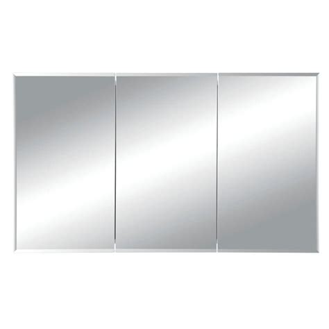 frameless mirrored medicine cabinet horizon 48 in w x 28 1 4 in h x 5 in d frameless tri