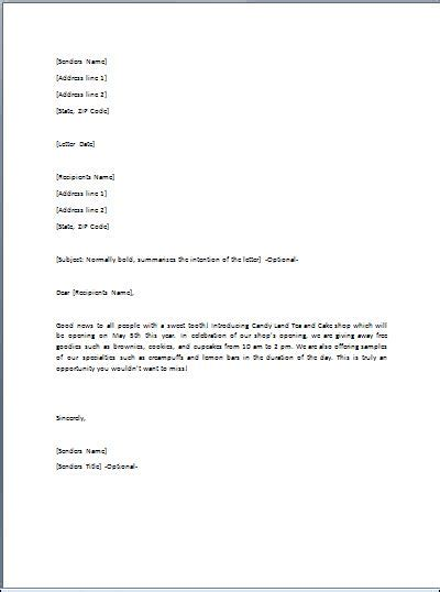 gift letter template template business