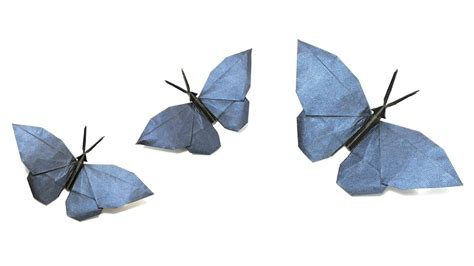 origami 3d mariposa butterfly tutorial origami butterfly tutorial hideo komatsu 折り紙 蝶 оригами