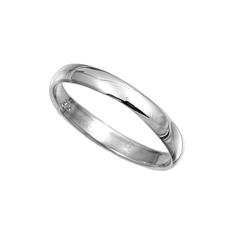 925 sterling silver ring plain 3mm wedding band jewelry