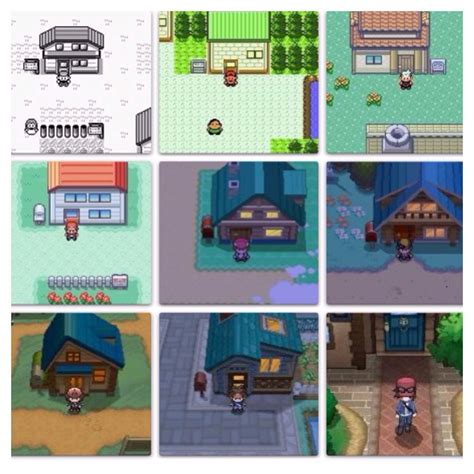 house game red s house through out the years in pokemon game boy game