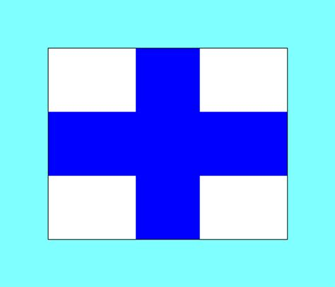 flags of the world with crosses blue white flag with cross