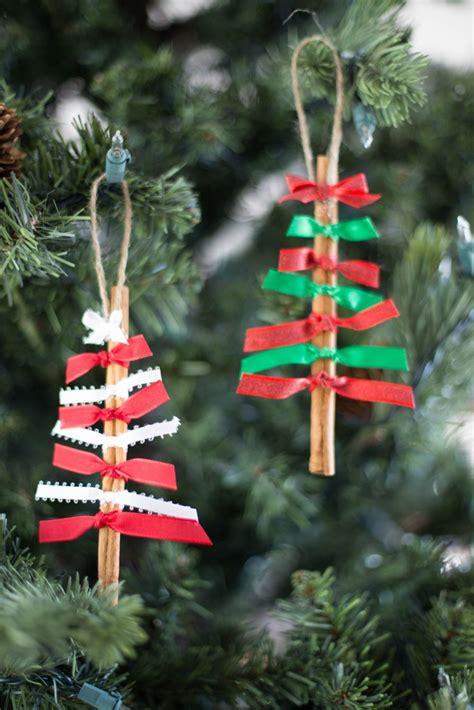easy ribbon christmas tree ornaments cinnamon stick ornaments tgif this is