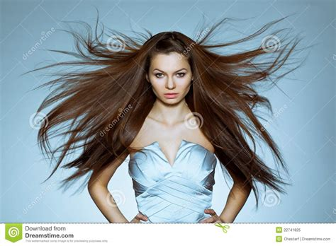 with hair portrait of with flying hair royalty free stock photo image 22741825