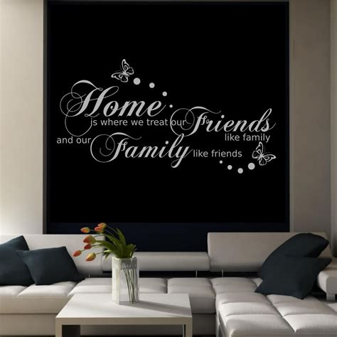 family friends home quote creative wall art sticker family friends home quote wall art sticker transfer decal