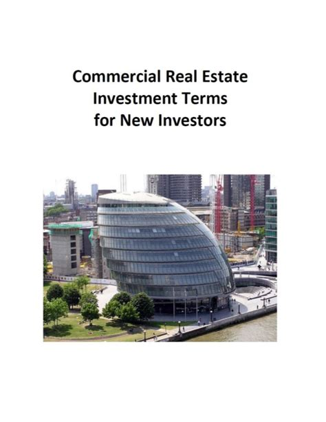 is commercial real estate for you books mukesh valabhji commercial real estate investment terms