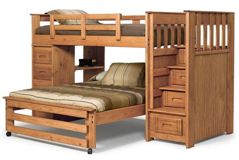 wood bunk beds twin over full wood twin over full bunk bed with stairs thenextgen