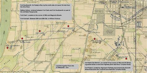 kentucky map civil war civil war louisville ky historic photos of louisville