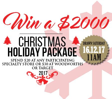 win a 2 000 christmas holiday package springwood