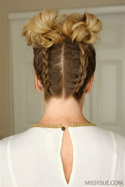 Braided Buns Hairstyles by Braids High Buns Sue