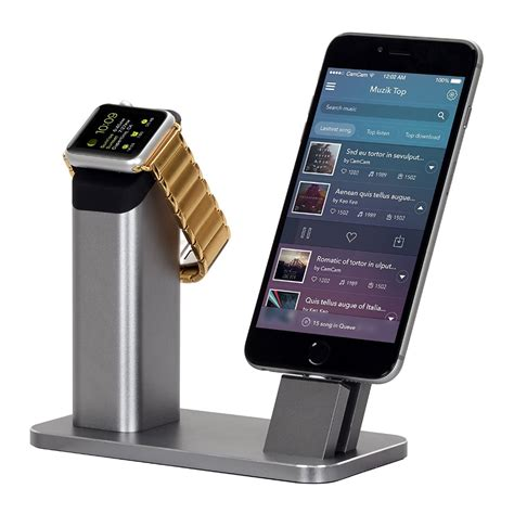 new top aluminium stand holder charging dock charger station mount base for apple 3 2 1