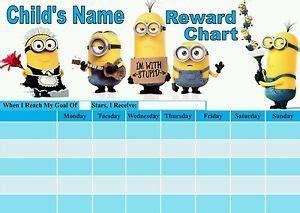 printable reward charts minions minion sticker reward chart kamos sticker