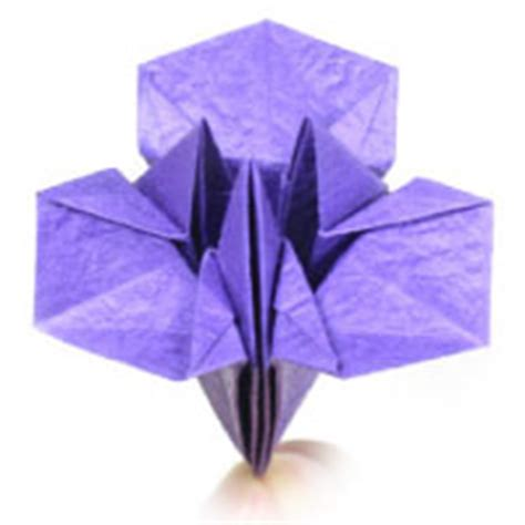 Iris Flower Origami - how to make origami flower