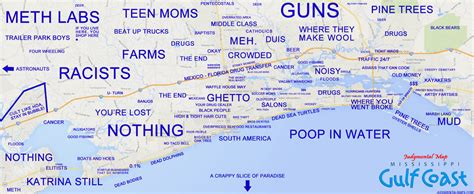 map of gulf coast judgmental maps mississippi gulf coast by anonymous copr 2014
