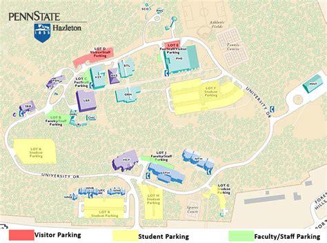 psu parking map parking map penn state hazleton