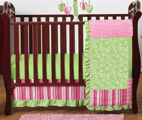 pink and green bedding boutique pink and green baby bedding 11pc