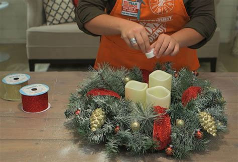 home depot ideas decoration how to make a christmas centerpiece at the home depot