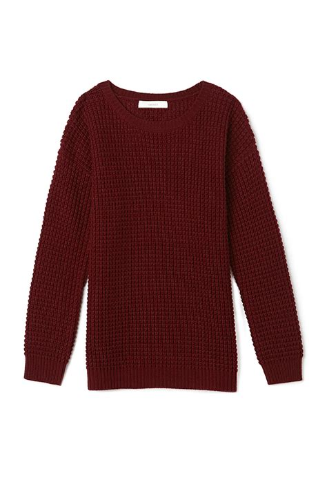 knitted sweaters forever 21 lyst forever 21 favorite waffle knit sweater in