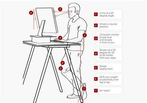 proper standing desk posture proper standing desk posture desk design ideas