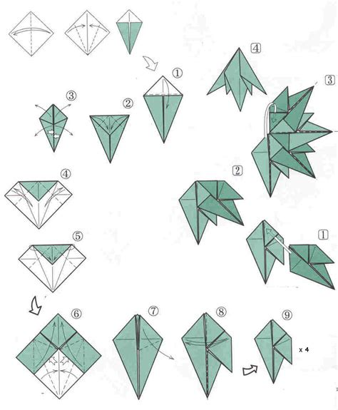 Origami Pattern - origami easy origami tree how to make a