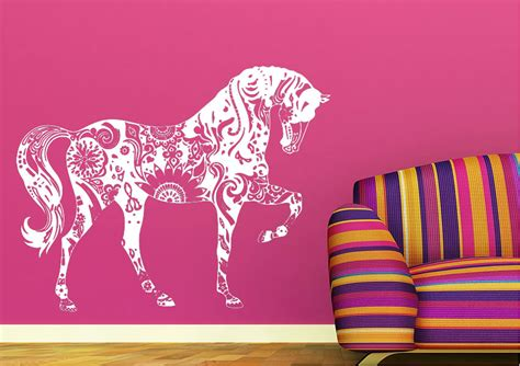 Personalised Name Wall Stickers For Kids horse wall stickers wallartdirect co uk