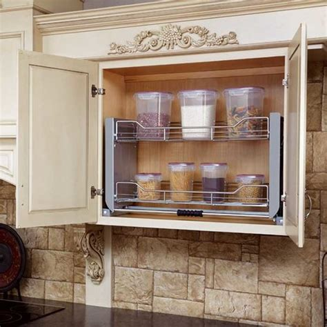 pull down kitchen cabinets rev a shelf 36 quot pull down shelf system 5pd 36cr