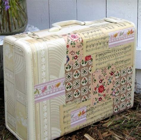 How To Decoupage A Suitcase - decoupage suitcase vintage suitcases
