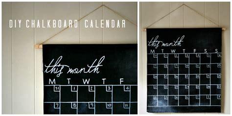 how much to make a calendar diy chalkboard calendar a tutorial