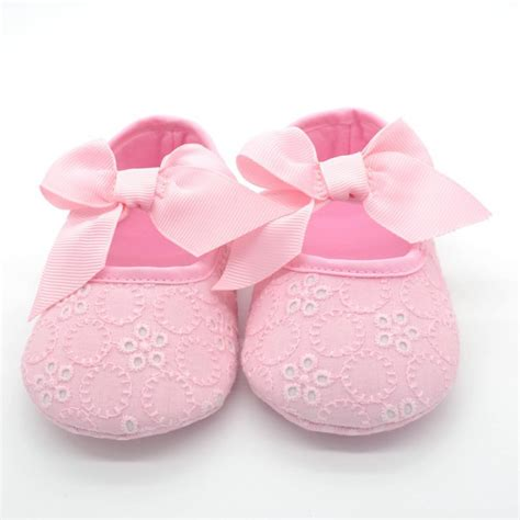 Size 2 Crib Shoes by New Baby S Size 2 Pink Eyelet Dress Shoes C186 Crib Shoes