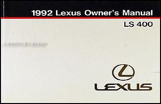 auto repair manual online 1992 lexus ls seat position control 1992 lexus ls 400 owners manual original