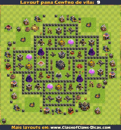 layout troll cv 9 layouts de cv9 clash of clans clash of clans dicas