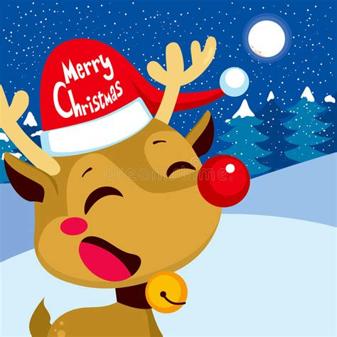 merry christmas rudolph stock vector image